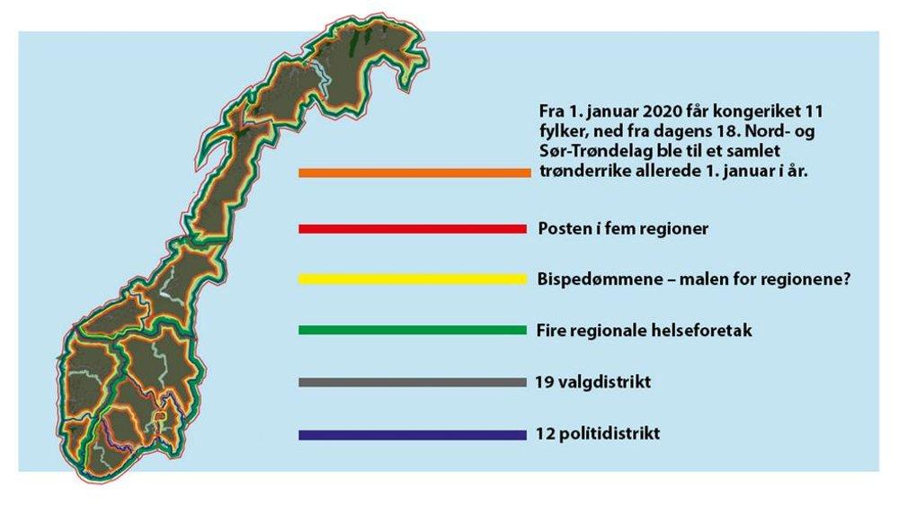 Rakkestad Avis Slik Blir Det Nye Kartet Over Norge
