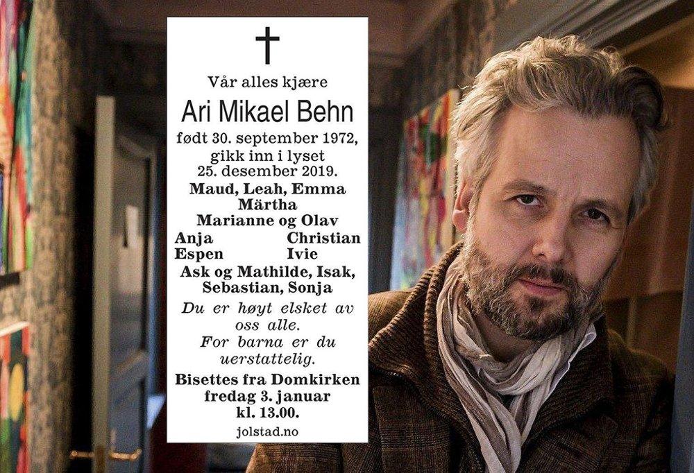 Moss Avis Ari Behns Dodsannonse For Barna Er Du Uerstattelig