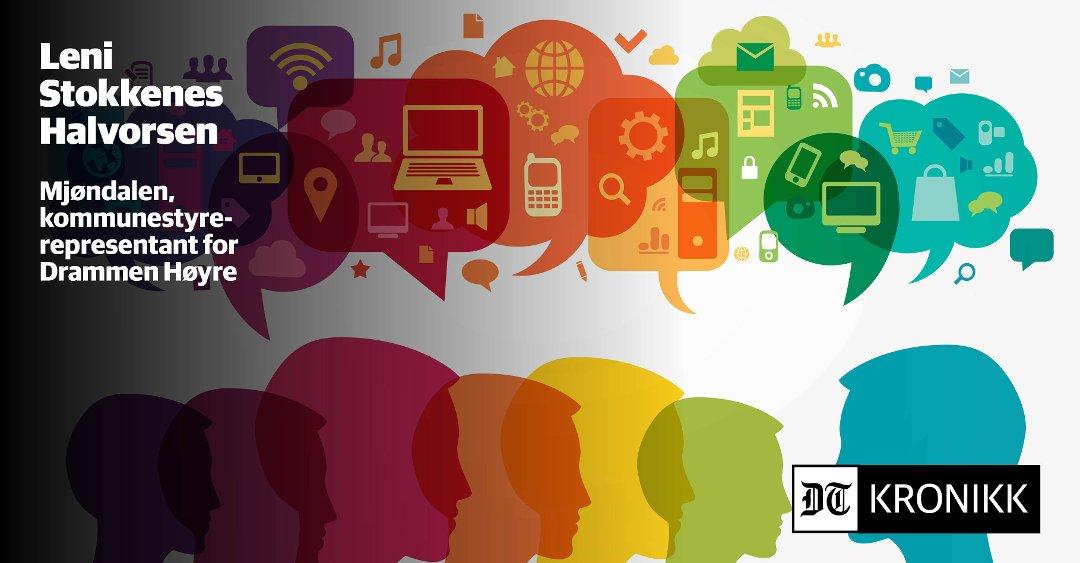 Drammens Tidende Digitalisering I Drammen Kommune Hva Betyr Det For Deg Og Meg