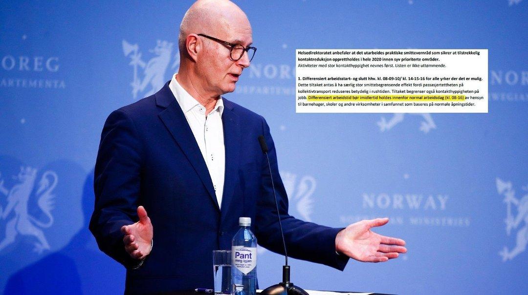 Sandefjords Blad Helsedirektoratet Anbefaler 6 Timers Arbeidsdag Regjeringen Avviser At Det Betyr At 6 Timersdagen Innfores