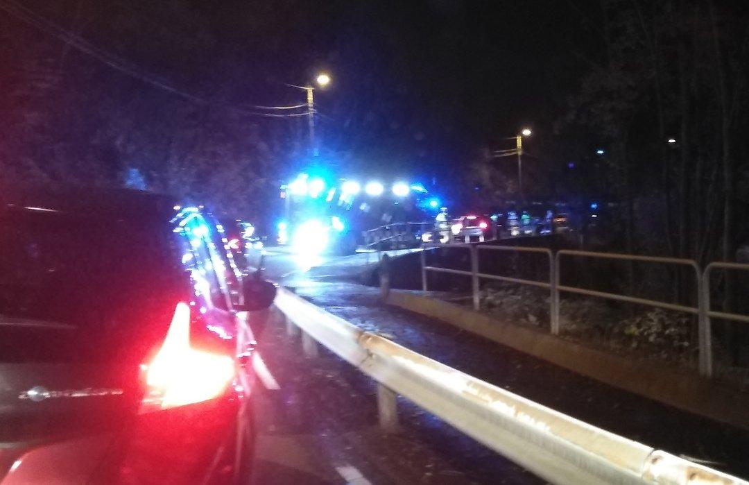 Fire personer skadet i ulykke på Krokeidevegen
