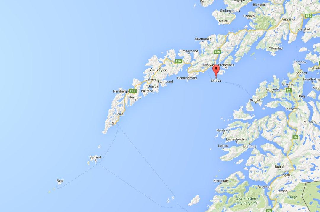 kart over skrova Avisa Nordland   Død mann funpå Skrova kart over skrova
