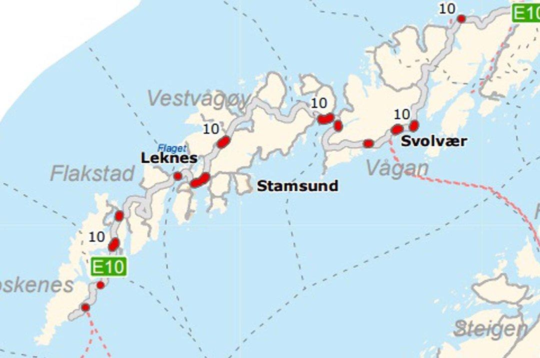 kart over leknes Lofotposten   Her blir det asfalt i 2015! kart over leknes