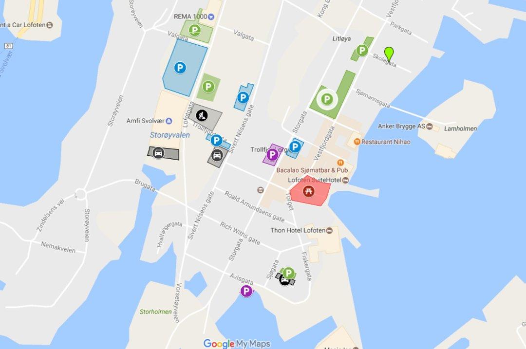 kart over henningsvær Lofotposten   Snart må du ha egen app for å parkere i Svolvær kart over henningsvær
