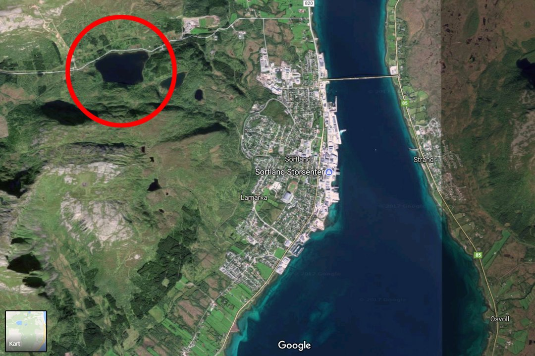 kart sortland Nordlys   Ble evakuert i frykt for at demning skulle briste kart sortland