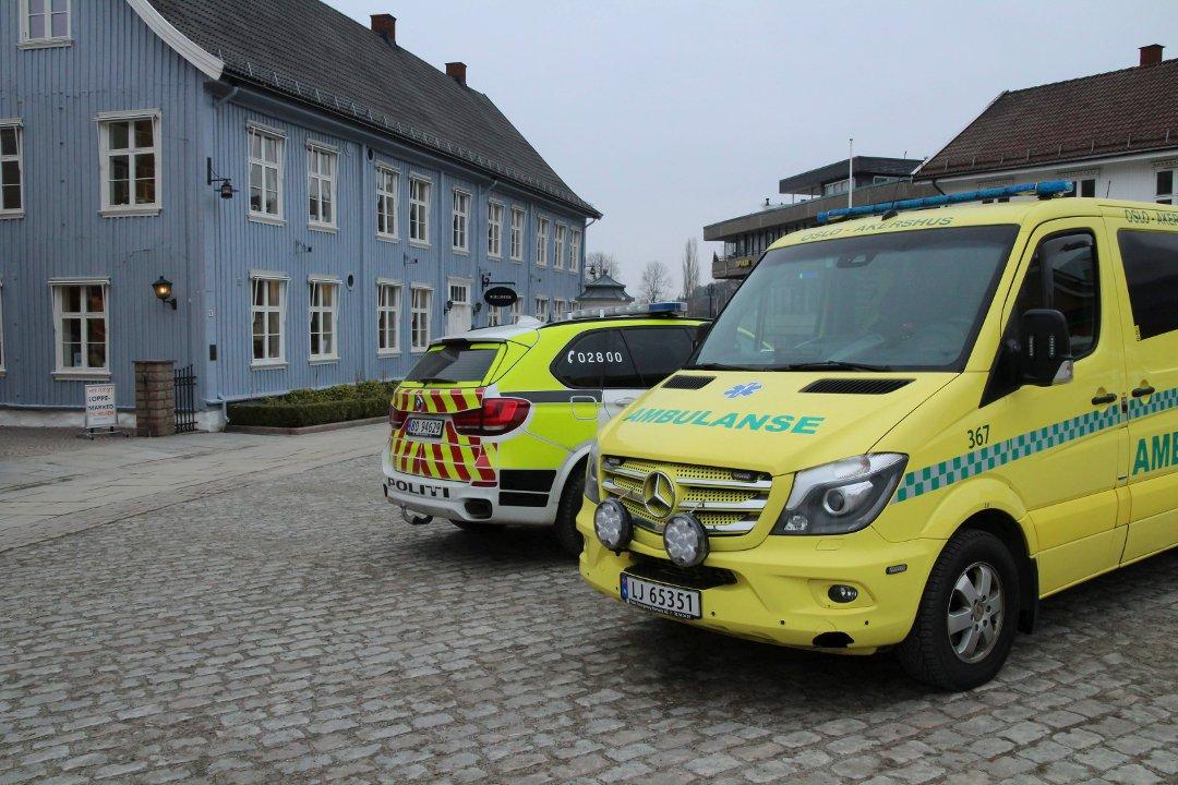 Flere politipatruljer rykket ut til biblioteket i Drøbak