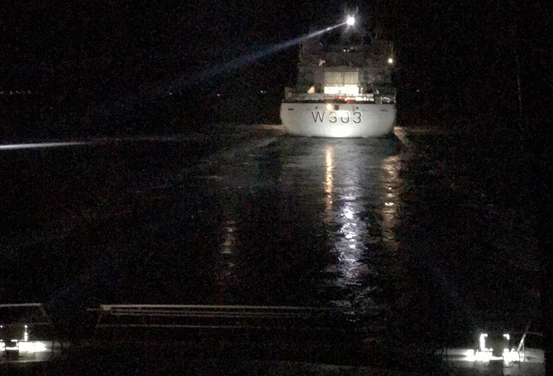 Hurtigbåttrafikken fikk problemer i Troms. Måtte loses av Kystvakta