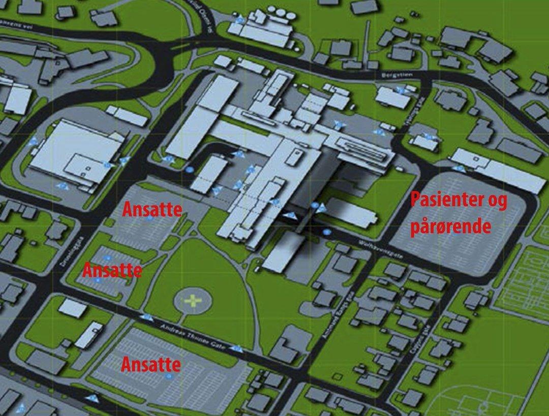drammen sykehus kart Ringerikes Blad   Parkeringsforholdene ved Drammen sykehus skal  drammen sykehus kart