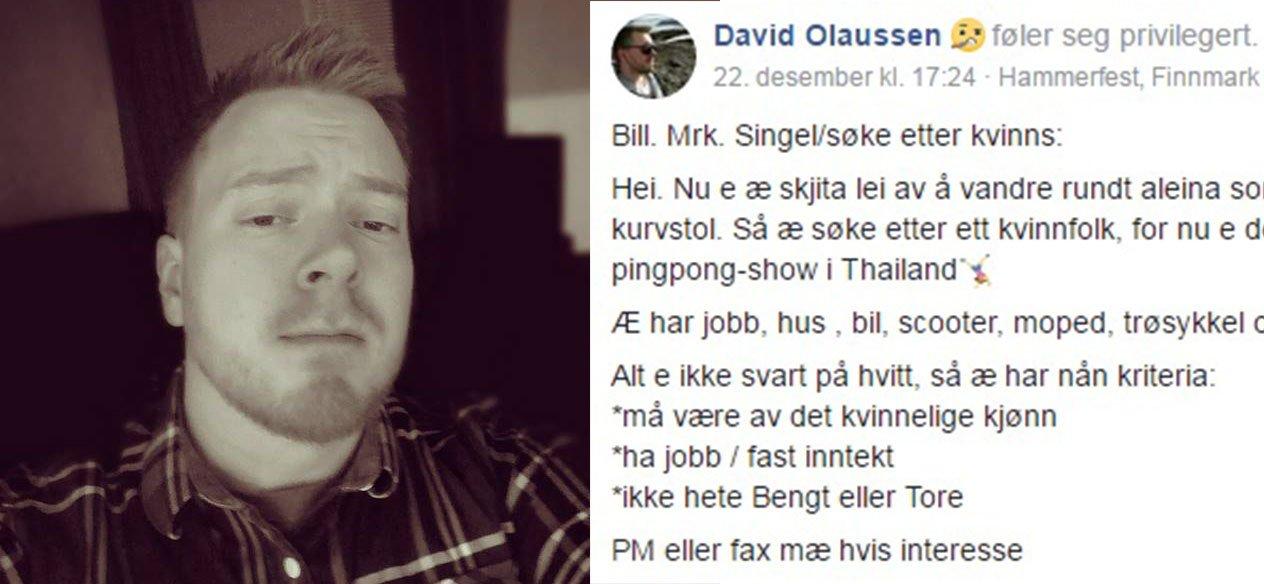 kontaktannonser i finnmark finne kjæreste på nettet fra örnsköldsvik