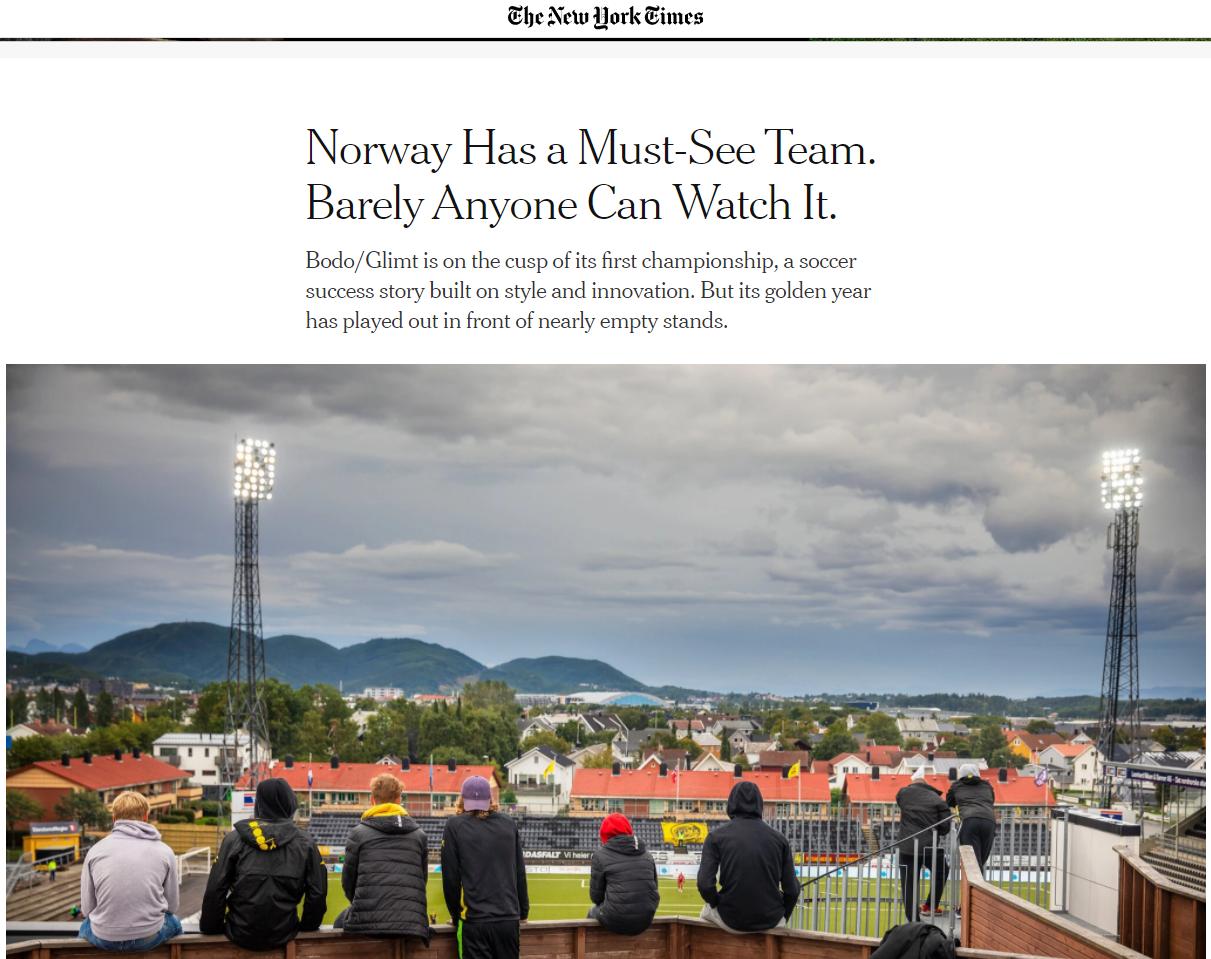 Bodø Glimt, New York Times | New York Times kaller Bodø/Glimt den perfekte  underdog: – Laget fra Norge som alle vil se, men nesten ingen har mulighet  til