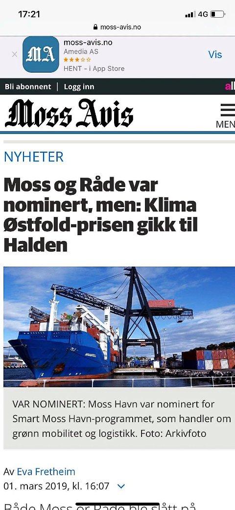 HELT TIL TOPPS: Thor Edquist er stolt av at Halden kommune blant annet vant Klima Østfold-prisen mens han var ordfører.
