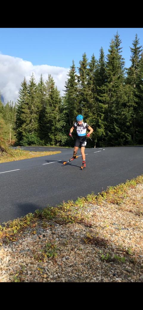 13. plass: Sannidølen Hogne Findal Skar fikk 13. plass under NM i skiskyting på rulleski i helga.