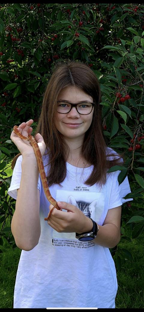 GLAD: 13 år gamle Ina Arstein fikk Tusse til bursdagen sin. Hun ble veldig glad da hun ble funnet, etter vel én måned på rømmen.