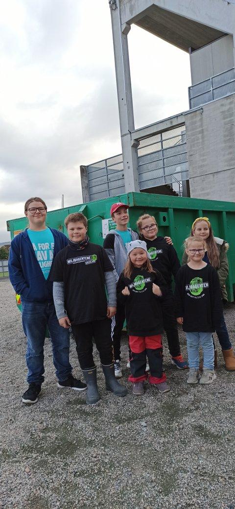 Barn og unge ble oppfordret til å rydde i sitt eget nærområde.