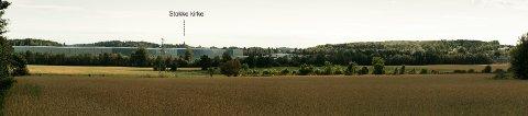 STORT: Bygningene i det planlagte datalagrinssenteret på Stokkemyra kan bli inntil 155.000 kvadratmeter store, med en høyde på 20 meter pluss takoppstikk. Byggene i denne fotomontasjen er på 120.000 kvadratmeter. Fotomontasje: Norconsult