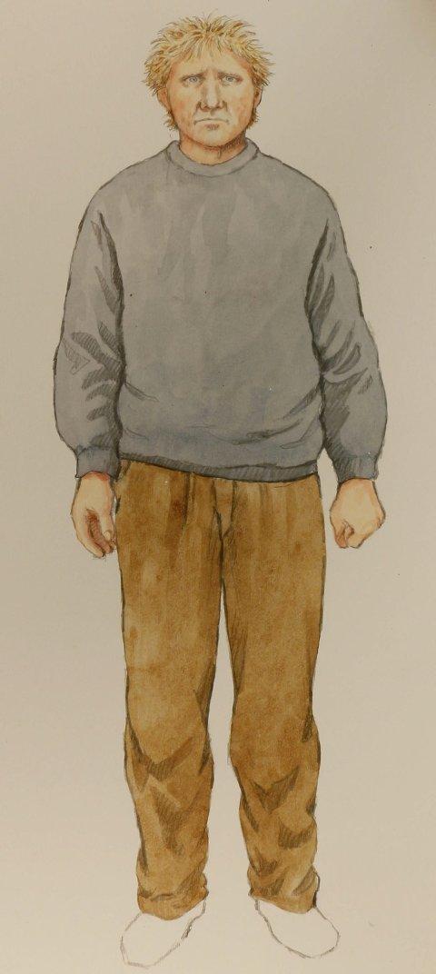 Hvem er dette? Tiltalte er klar på at Lågendalsmannen, som ble tegnet etter en vitneobservasjon 5. august, ikke kan være ham. Aktoratet vil trolig forsøke å bevise det motsatte senere i rettssaken.