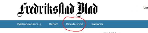 """Her finner du kampene: På toppen av vår forside trykker du på fanen """"direkte sport"""". Da kommer du inn på vår rikholdige meny."""