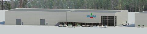 NY BUTIKK: Maxbo åpner ny forretning på den gamle sagtomta i Åmot sentrum.