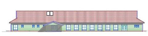 MED SKUTAR: Nye Karlsbu blir eit stort bygg som hentar inspirasjon frå dei tradisjonelle jærhusa.