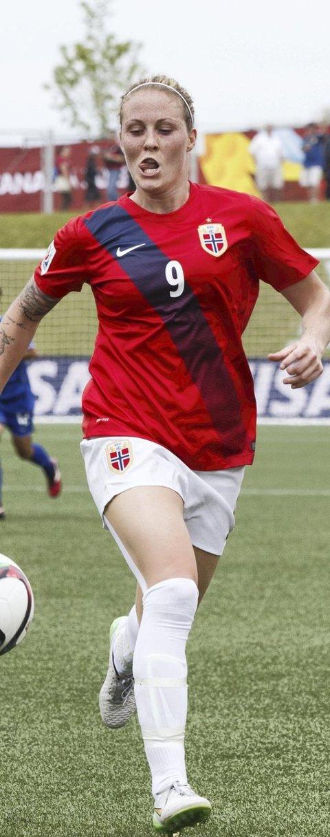 NYE MÅL: Isabell Herlovsen var på hugget under Norges VM-kamp mot Thailand. Foto: Berit Roald / NTB scanpix