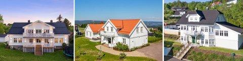 Det er ikke småtterier de tre boligene i Holmestrand frister med for potensielle kjøpere.