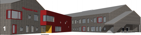 BLIR MINDRE: Det kostar å redusera utsleppa av klimagassar ved den nye skulen i Klepp. For å spara pengar, er arelet redusert frå 5.500 kvadratmeter til 5.200 kvadratmeter.