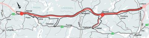 ENDELIG PLAN: Dette er Nye  Veiers endelige plan for E39.