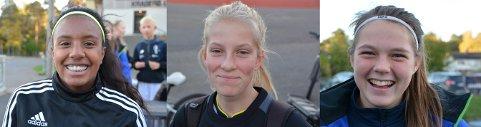 Carol Liane Jensen (f.v.), Lisa Lia og Milla Baumeler Isaksen skal på talentleir i Stavanger i den siste uka før sommerferien starter.