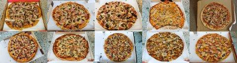 SB tester pizza: Vi bestilte en fra hver.