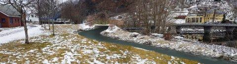 Flaumluke: Ei flaumluke mellom Sandvinvatnet og Sørfjorden på austsida av Odda vil ifølge Multiconsult truleg koste om lag 98 millionar kroner. På denne illustrasjonen kan du sjå flaumluka heilt til høgre.Illustrasjon: Multiconsult