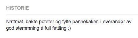 FRA FACEBOOK: På TorgHukens FB-side står det dette i historikken.