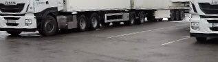 Dyr transport: Disse to vogntogene fra samme firma ble stanset med overlast begge to.