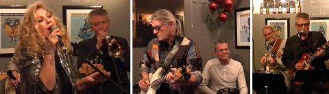 MUSIKALSK AFTEN: Riverside Blues Band spilte mye god og gammel blues på Sjøgata Pub i november.