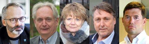 NYE TILTAK: Ordførerene i Lillestrøm (Jørgen Vik), Aurskog-Høland (Gudbrand Kvaal), Lørenskog (Ragnhild Bergheim), Nittedal (Inge Solli) og Rælingen (Ståle Grøtte) fikk søndag beskjed om de nye tiltakene som regjeringen har innført i regionen.