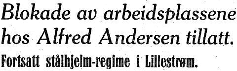 Dramatikk: Akershus Arbeiderblad 14. januar 1935.