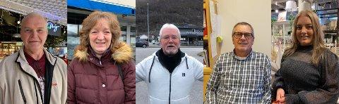 VAKSINE: Det er delte meiningar om koronavaksina blant innbyggjarane i Sogn og Fjordane. F. v Sverre Bruheim, Dina Apar, Stein Henry Sjøthun, Øyvind Heggheim og Linn Heggestad.