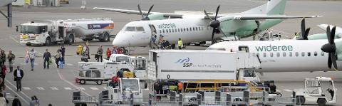 Stortinget besluttet å kartlegge flyplasskapasiteten på Østlandet, også ved de ikke-statlige flyplassene Torp og Rygge. (Arkivfoto: Atle Møller)