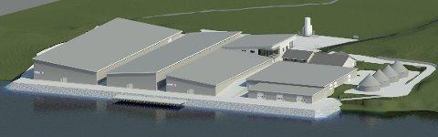 NYTT ANLEGG: Slik skal de nye anlegget på Trovåg se ut i 2020. ILLUSTRASJON: Bremnes Seashore AS