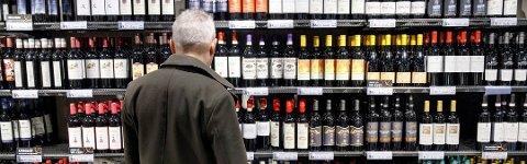 I én av drikkekalendrene som Vinmonopolet tilbyr, er det 23 flasker med to centiliter og én flaske med fire centiliter som er til julaften.