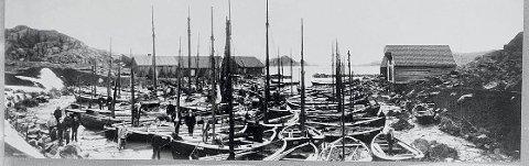 TRAVEL HAVN: Arbeidet med havnen på Sandve startet i 1898 og varte til 1906.