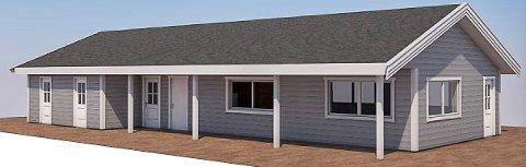 SLIK BLIR DET: Her er en 3D-skisse over det nye aktivitetshuset som skal bygges på Grymyr.