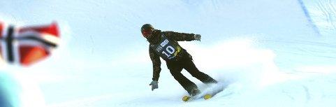 27. PLASS: Kongsberg Freestyleklubbs Trym Sunde Andreassen var yngstemann i semifinalen i slopestyle i Laax.foto: ole john hostvedt