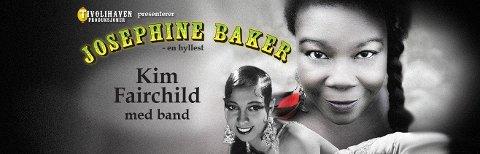 BLE AVLYST: Sangeren Kim Fairchild, som spilte Josephine Baker i «Tivolihaven – en hardtarbeidende musikalkomedie» – skulle i tillegg hyllet livet og musikken til Baker i en egen forestilling 10 mai. Men bare to kjøpte billett.
