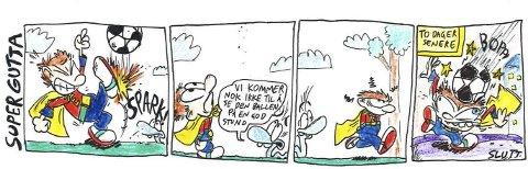 SUPERGUTTA: En tegneseriestripe fra Even Thomassens «Supergutta».