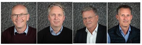 ANSVARLIGE: Fra venstre: Njål Vikedal (V), Thorleiv Rognum (KrF), Oddvar Igland (Sp) og Håvard Vestgren (H).