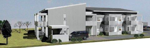 NYBYGG: I starten av 2021 er seks beboere på plass i Havreveien borettslag på Krokemoa. (Illustrasjon: PV Arkitekter)