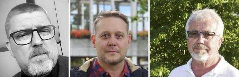 LITT ENIGE: Lars Gunnar Larsen (f.v.) og Øyvind Hvisten i Nedre Eiker Ap er enige med Odd Røren i at det skal være en høring, men ikke på hvilken måte.