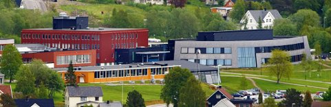 RYKKET UT: Brannvesenet rykket ut til Olav Duun videregående skole torsdag kveld.