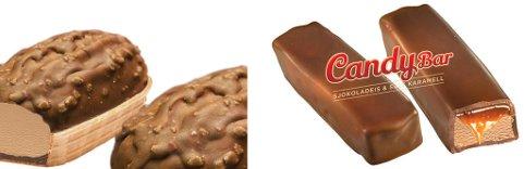 Båttis med melkesjokoladeis og cripssjokolade er Isbjørn Is nye variant av en gammel klassiker. Candybar er med salt karamell, årets store trend.