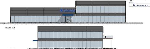 MYE GLASS: Halvannen etasje med totalt nærmere 1.500 kvadratmeter og fasader med mye glass, er det Mascot planlegger i Ålekilen.